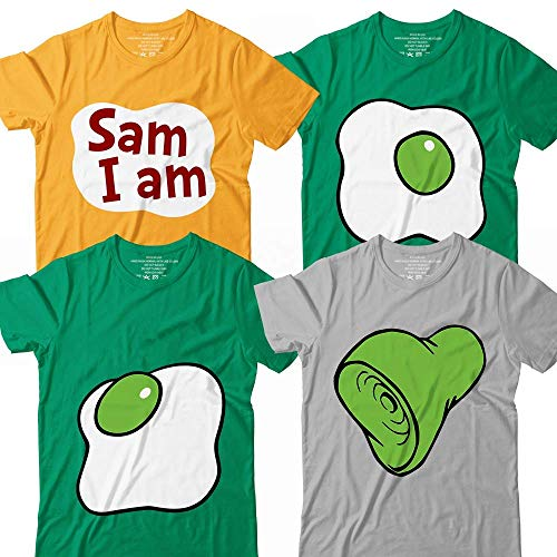 Eggs-&-Hams Sam-I-Am Green Halloween Costume Matching Group Team Family Customized Handmade Hoodie/Sweater/Long Sleeve/Tank Top/Premium T-shirt