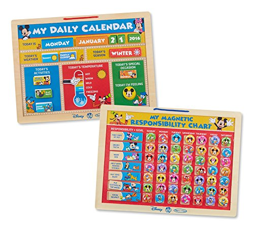 Melissa & Doug Disney Mickey Mouse Clubhouse Magnetic Calendar and Responsibility Chart Set With 170+ Magnets to Track (Behavior Calendar)