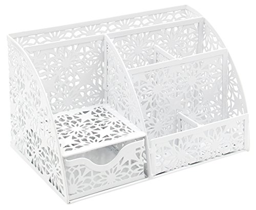 EasyPAG Hollow Flower Pattern Desk Accessories Organizer Caddy with ()