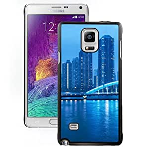 New Beautiful Custom Designed Cover Case For Samsung Galaxy Note 4 N910A N910T N910P N910V N910R4 With Tokyo Night Landscape Phone Case