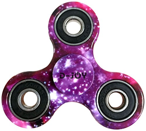 D-JOY Tri-Spinner Fidget Toy Hand Spinner Camouflage, Stress Reducer Relieve Anxiety and Boredom Camo (Starry sky) D-JOY