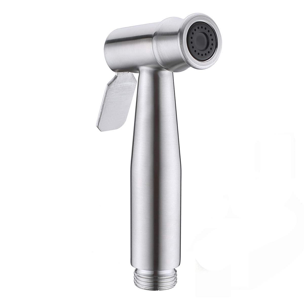 Hand Held Bidet Sprayer for Toilet, Cloth Diaper Sprayer Shattaf, Stainless Steel, Brushed Nickel …