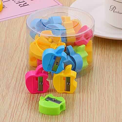 Zuf/ällige Farbe Kinder Schreibwaren DaoRier 48pcs Bleistiftanspitzer Spitzmaschine Anspitzer Mini Niedlich Kleiner Elefant Form