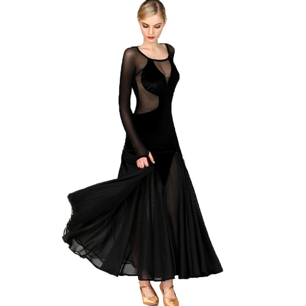 好きに 現代のセクシーな視点現代のダンスのスカートのドレスワルツのダンスのスカートのドレスメッシュベルベットのステッチ社交ダンスのワルツ社交ダンスの衣装 B07NV8HRFW XL|ブラック XL ブラック B07NV8HRFW XL|ブラック XL, Okawari:1cf3b1f3 --- a0267596.xsph.ru