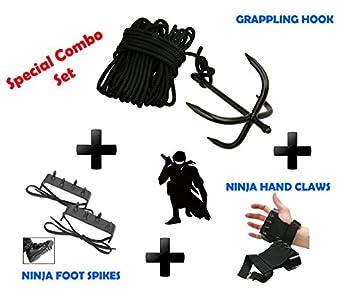 NINJA Combo Set Grappling Hook, Hand claws & Foot Spike ...