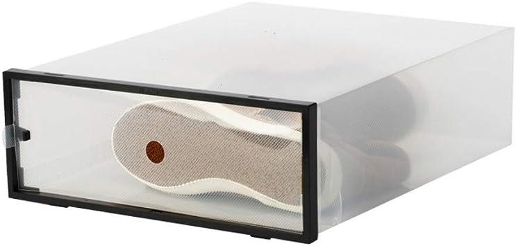 XZDXR Caja De Almacenamiento De Zapatos, 6 Botas, Gabinete De Zapatos De Plástico Corrugado Transparente para Mujeres con Plegable Y Plegable: Amazon.es: Hogar