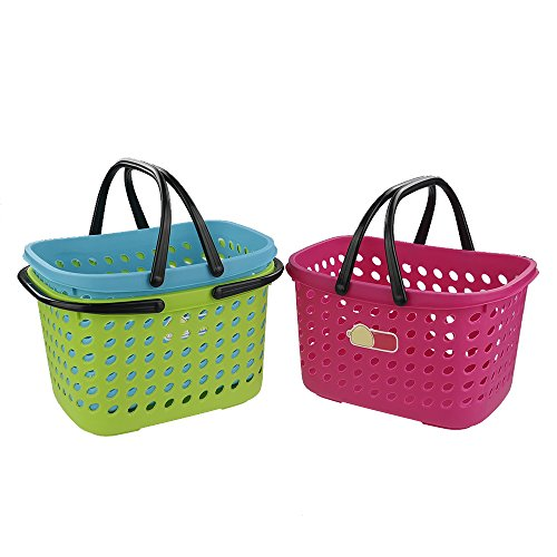 Pekky Small Plastic Handle Baskets, 3 -