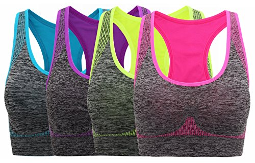 a1bc5a9214172 HENNY RUE Women s Sports Bra Breathable Padded Workout Yoga Bras 60 ...