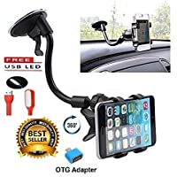 Ceuta Retails™ Soft Tube Mobile Holder Car Mobile Stand Mobile Holder for Cars Dashboard Multi-Angle Adjustment with 360 Degree Rotating