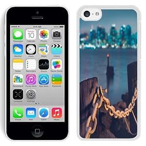 NEW Unique Custom Designed iPhone 5C Phone Case With Jersey Shore Dock_White Phone Case