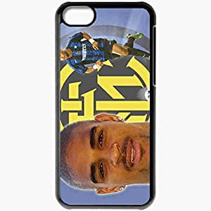Personalized iPhone 5C Cell phone Case/Cover Skin Adriano Football Black
