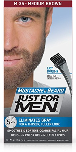 Just For Men Mustache & Beard Brush-In Color Gel, Medium Brown (Pack of 3) by Just for Men (Image #2)