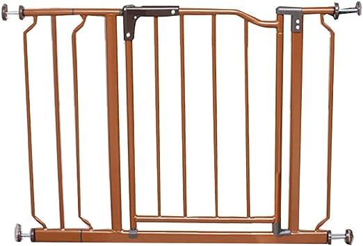 Barreras para puertas y escaleras Puerta de seguridad para niños Barandillas de escaleras Valla para perros cerca de la valla Puerta de aislamiento Perforadora libre Marrón oscuro encriptado Anchura d: Amazon.es: Hogar
