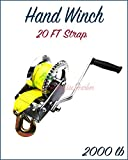 Paradise Harbor 2000 Lbs Hand Winch 26 FT Strap