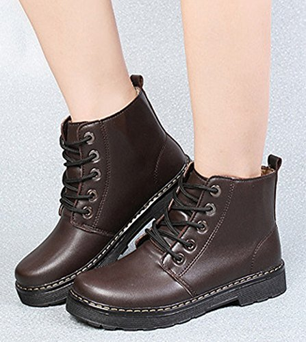 Aisun Low boots Femme Rond Bout aawqpM6f