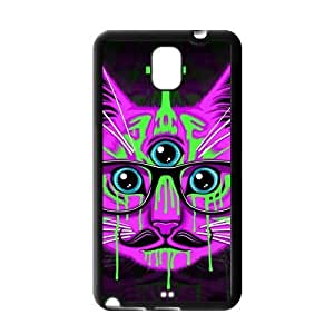 Nebula Galaxy Space Cheshire Cat case cover for Samsung Galaxy Note 3 TPU,Metal and Hard Plastic Case-Clear Frame