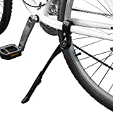 """BV Bicycle Silver Alloy Adjustable Height Rear Kickstand, for Tube Mounting, for Bike Sizes 24"""", 26"""" and 28"""""""