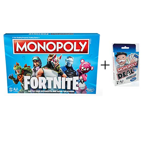 Monopoly: Fortnite Edition Board Game Inspired by Fortnite Video Game + Monopoly Deal Card Game