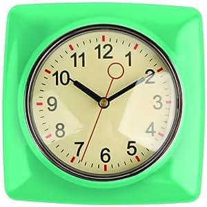 Amazon Com Kikkerland Retro Kitchen Wall Clock Mint