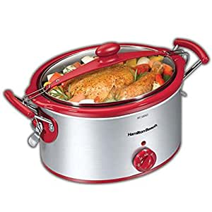 Hamilton Beach 33254H 5 qt. Stay or Go Slow Cooker