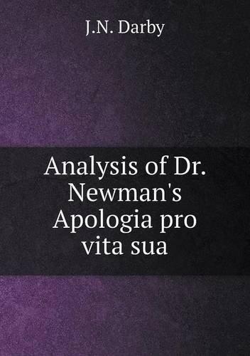 Download Analysis of Dr. Newman's Apologia pro vita sua pdf epub