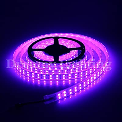 XKTTSUEERCRR 5050 SMD 16.4Ft 5 Meter Double Row 600LEDs RGB Waterproof Flexible LED Strip Lights 120LEDs/M 600LEDs/Roll String Lights