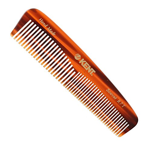 Kent-The-Handmade-Comb-Fine-and-Coarse-Toothed-Pocket-Comb-Sawcut-R7T-130-mm