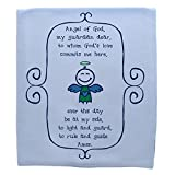 The Catholic Company Guardian Angel Prayer Baby Boy Blanket 100% Cotton Knit Pink 30'' x 40'' Graphic Print