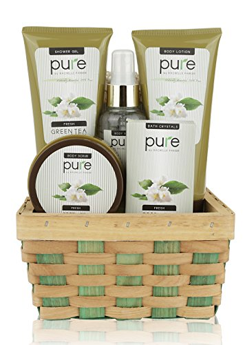 Pure-Herbal-Collection-Spa-Basket-The-gift-that-Keeps-Giving-Touchable-Skin-Cleansed-Hydrated-with-Green-Tea-Spa-Collection