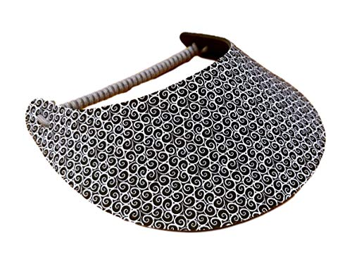 The Incredible Sunvisor Assorted Black and White Patterns Perfect for Summer! Made in The USA!! (B&W 13)