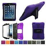 Bolkin® Hybrid Armor Series Shockproof Case Cover for Apple Ipad Air (Purple), Best Gadgets