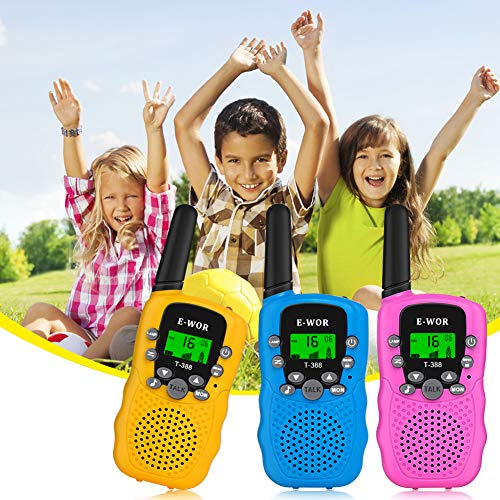 E-wor Walkie Talkies for Kids,22 Channels FRS/GMRS UHF Kids Walkie Talkies,  2 Way Radios 3 Miles Walkie Talkies Kids Toys with Flashlight by EWOR, 3
