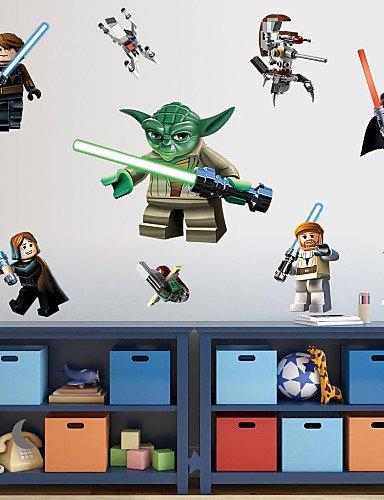 Pegatinas de pared, de dibujos animados de Lego robot ...