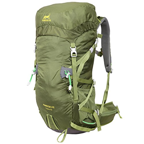Eshow Sports 40L with a New Limited Edition Color For Outdoor Hiking Travel Climbing Camping Mountaineering with Waterproof Backpack Cover For Men/Women For Sale