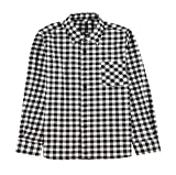 AOLIWEN Girls and Boys Long Sleeve Shirts Plaid Button Down Flannel Shirts 3-12 Years