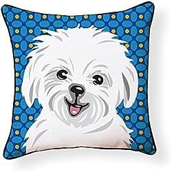 Naked Decor Pooch Decor: Maltese pillow, Multi