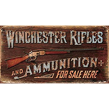 Winchester - Rifles & Ammo Tin Sign 16 x 9in