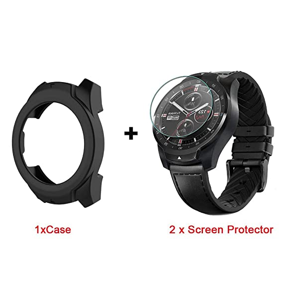Amazon.com: for TicWatch Pro Case, Lamshaw Silicone Case ...