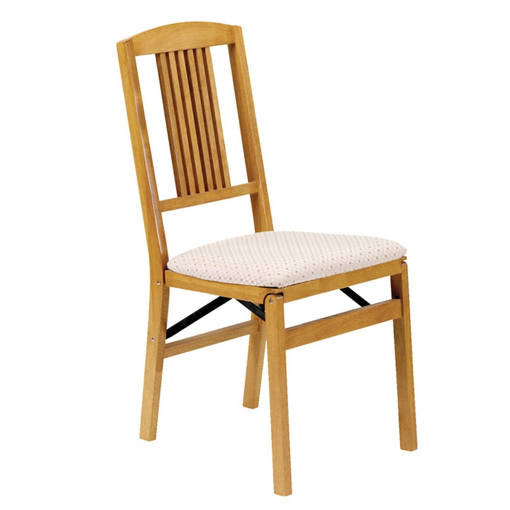 Stakmore Simple Mission Folding Chair Finish, Set of 2, Oak