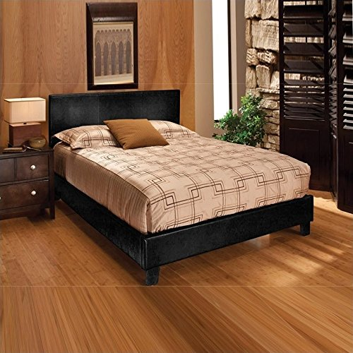 Hillsdale Furniture 1610BKR Harbortown Bed Set with with Side Rails, King, Black Vinyl