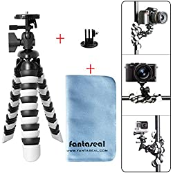 Fantaseal 3-in-1 DSLR Camera + Action Cam Mini Octopus Tripod Flexible Gorillapod for GoPro Sony Garmin Virb XE SJCAM Xiaomi Yi Tripod Table Desk Tripod Travel Portable Selfie Tripod Stand Holder