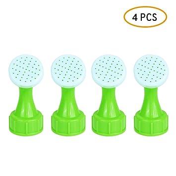 KOBWA Botella de riego, 4 boquillas de plástico portátil para riego de Flores, 22 mm, convertidor para riego de Plantas o Flores: Amazon.es: Hogar