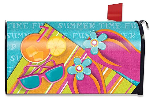 Briarwood Lane Pool Party Summer Magnetic Mailbox Cover Standard