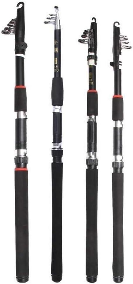 LEMON Alimentador de Pesca Rod Spinning alimentador de 2,1M 2,4M 3,0M 3,6M telescópica de Hierro y Acero de la Mano caña de Pescar trastos Accesorios