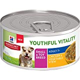 Hill'S Science Diet Senior Wet Dog Food, Adult 7+ Small & Toy Breed Youthful Vitality Chicken & Vegetables Stew Canned Dog Food, 5.5 Oz, 24 Pack