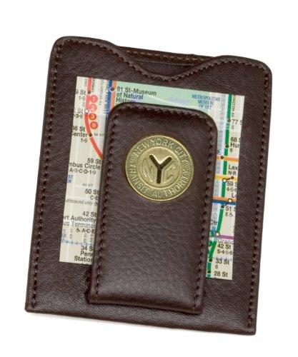 Tokens & Icons NY Transit Token Money Clip Wallet - Brown (80N-BRN)