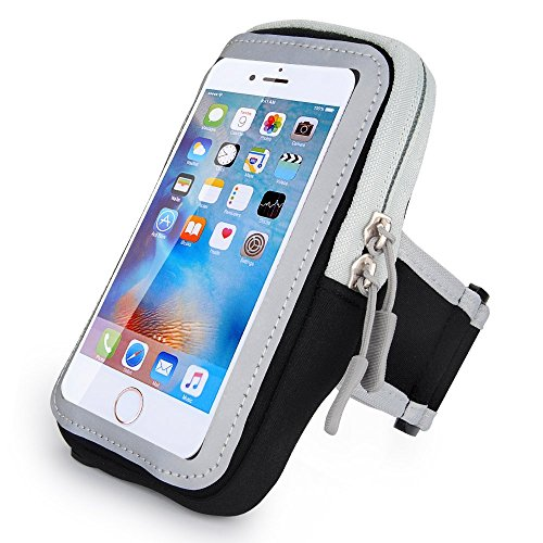 Workout Sport Fitness Running Armband Cell Phone Pouch Case Wallet Compatible iPhone Xs Max/iPhone 8 Plus/Motorola Moto Z3 Play / Z2 Force / G6 Play/OnePlus 6T /Google Pixel 3XL (Black)