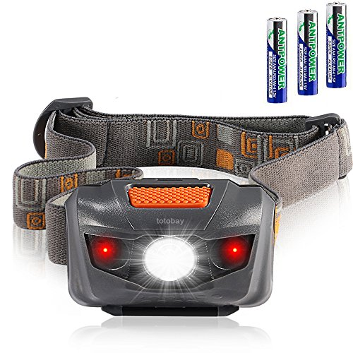 Waterproof LED Headlamp Flashlight- 4 Modes(White lights/ Red Lights and