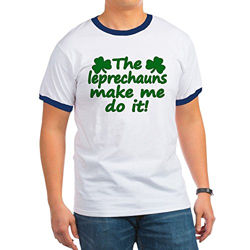Leprechaun Ringer - CafePress - Leprechauns Made Me Do It - Ringer T-Shirt, 100% Cotton Ringed T-Shirt, Vintage Shirt