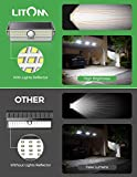 Solar Lights Outdoor, LITOM 100 LED Solar Motion